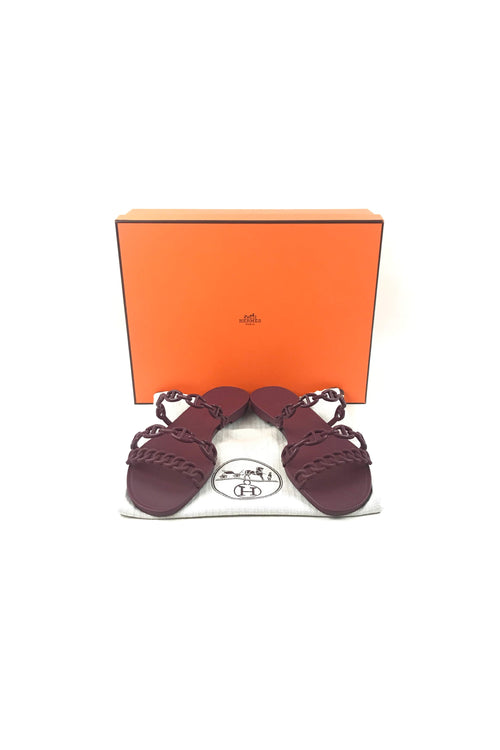 Burgundy Rubber Chaine D'Ancre Sandals