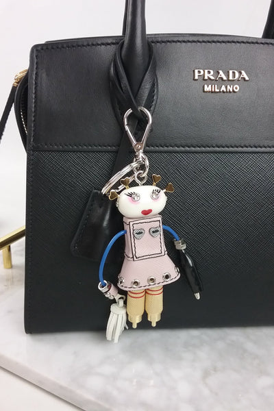 Saffiano & Metal Cheer Keychain