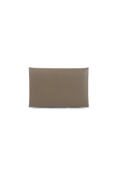 Etoupe Leather Calvi Cardholder