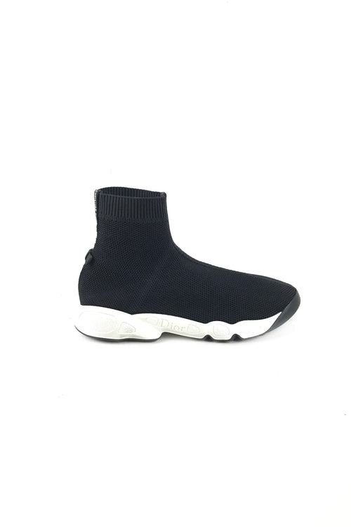 Black Fusion Technical Canvas High Top Sneakers