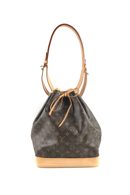 Monogram Canvas Noe Large Bucket Bag W/GHW