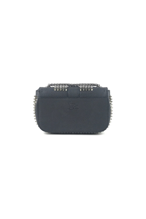 Black Grained Leather Spiked Sweet Charity Small Crossbody Bag