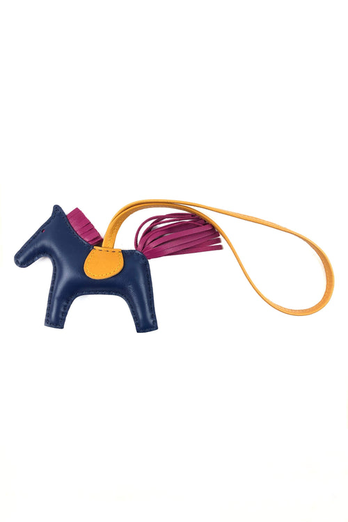 Blue/Magenta/Orange Leather Rodeo Charm PM