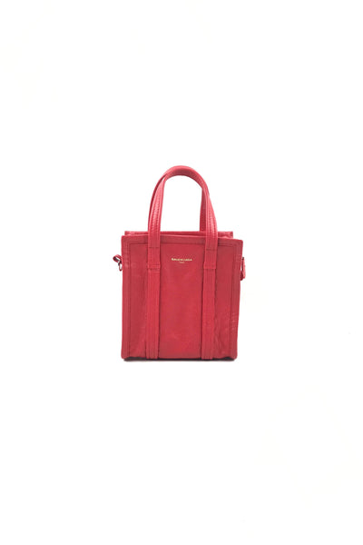 Coquelicot Chevre Leather Bazar XXS small Tote
