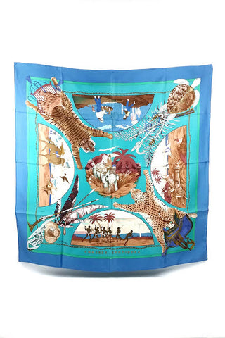 Chasses Exotiques Silk Scarf