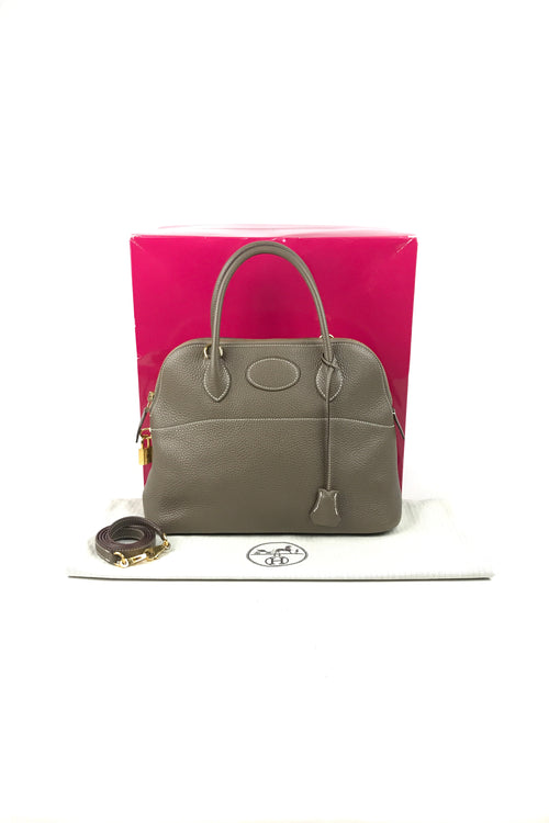 Etoupe Clemence Bolide 31 Bag W/GHW