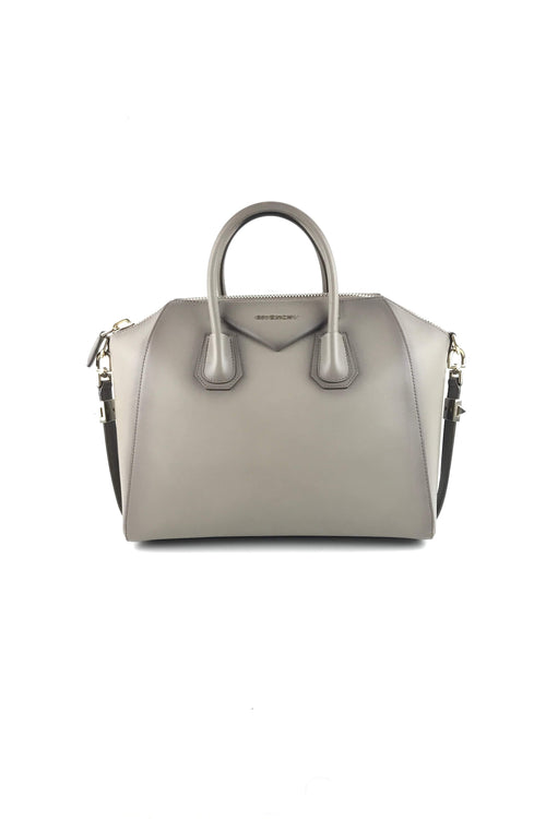 Antique Leather Grey Medium Antigona W/ GHW - Haute Classics