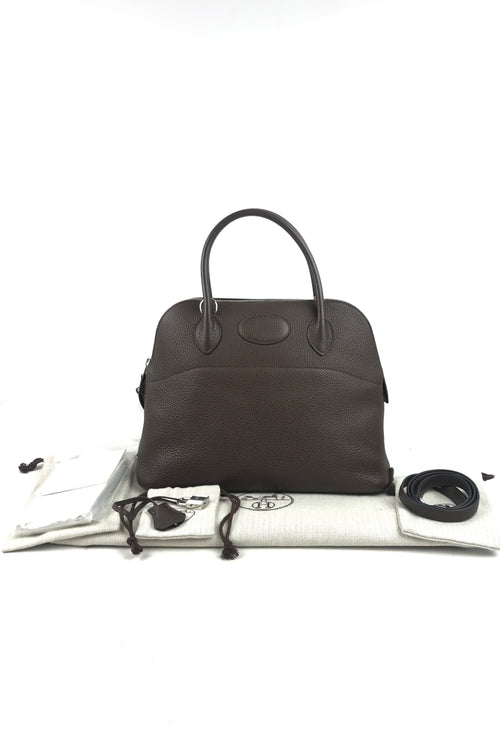 Chocolate Clemence Bolide 31 Bag W/PHW