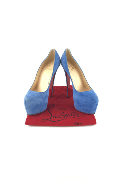 Cerulean Suede Daffodile 160 mm Pumps