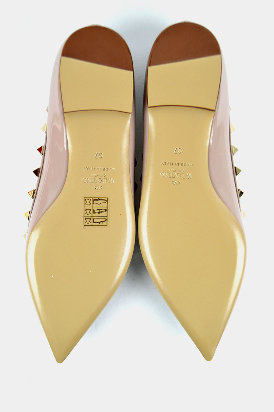 Nude Patent Leather Rockstuds