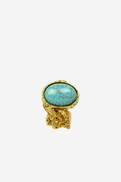 Turquoise Colour Arty Ring