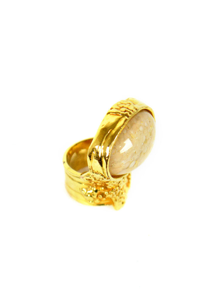 Beige Colour Arty Ring