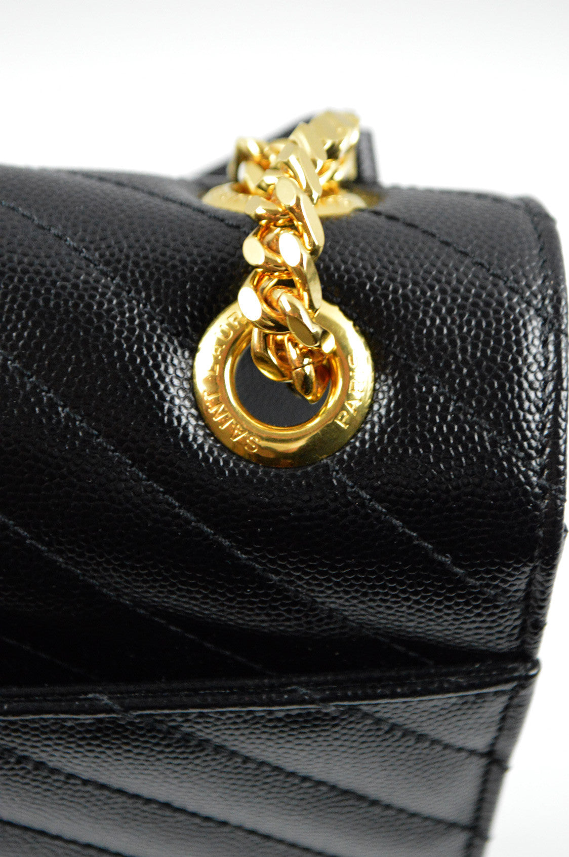 Black Monogram Matelasse Leather Shoulder Bag - On Layaway
