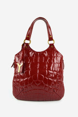 Red Patent Leather Metropolis Bag