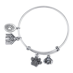 Beagle (W/O Fur) Charm Bangle Bracelet