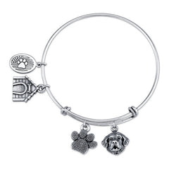 Bernese Mountain Dog Charm Bangle Bracelet