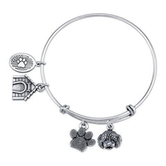 Bichon Charm Bangle Bracelet