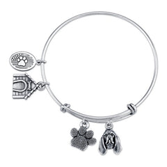 Bloodhound Charm Bangle Bracelet