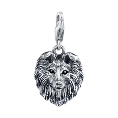 Rough Collie Dog Charm