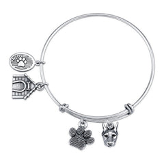 Doberman Charm Bangle Bracelet