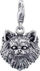 Chihuahua -Long Haired Chihuahua Dog Charm