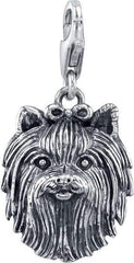 Terrier - Yorkie (long hair w/bow) Dog Charm