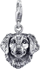 Retriever - Golden Retriever Dog Charm