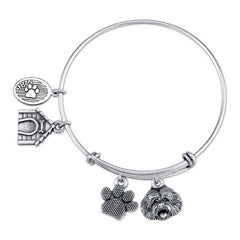 Goldendoodle Charm Bangle Bracelet