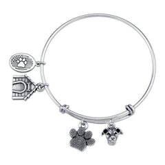 Greyhound - Italian Greyhound Charm Bangle Bracelet