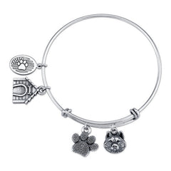 Husky Charm Bangle Bracelet