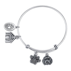 Labradoodle Charm Bangle Bracelet