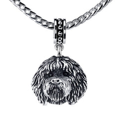 Labradoodle Pendant Necklace