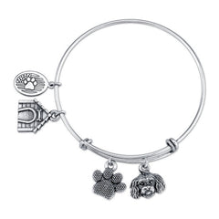 Maltipoo Charm Bangle Bracelet