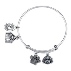 Mini Cavapoo Charm Bangle Bracelet