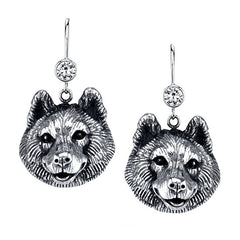 Pomsky Earrings