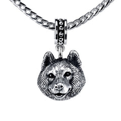 Pomsky Pendant Necklace