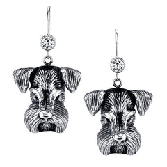 Schnauzer - Mini Schnauzer Earrings