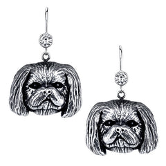 Shih-Tzu - Trimmed male Earrings