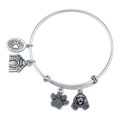 Spaniel - American Cocker Spaniel Charm Bangle Bracelet