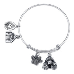 Spaniel - Irish Water Spaniel Charm Bangle Bracelet