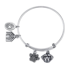St. Bernard Charm Bangle Bracelet