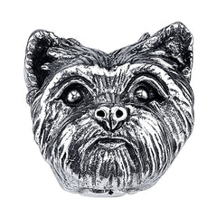 Terrier - Trimmed Yorkie Charm Bead