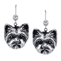 Terrier - Trimmed Yorkie Earrings