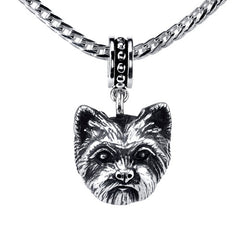Terrier - Trimmed Yorkie Pendant Necklace