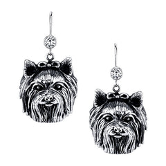 Terrier - Yorkie (long haired w/bow) Earrings