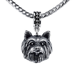 Terrier - Yorkie (w/o bow) Pendant Necklace
