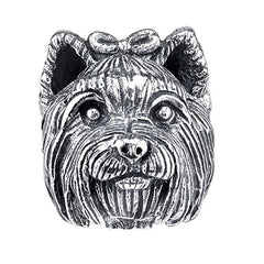 Terrier - Yorkshire Terrier (w/bow) Charm Bead