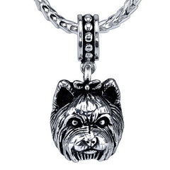 Terrier - Yorkshire Terrier (w/bow) Pendant Necklace
