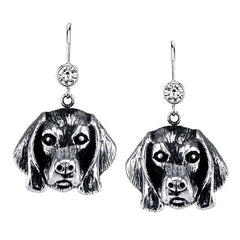 Weimaraner Earrings