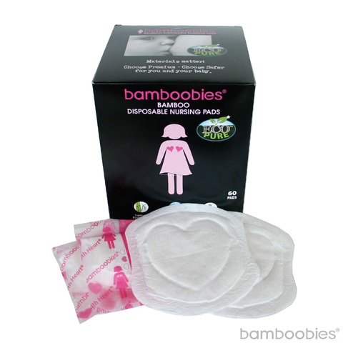 bamboobies Bamboo Disposable Nursing Pads- 60 pack